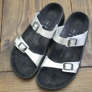 Birkenstock Tatami Silver Sandals Size 37